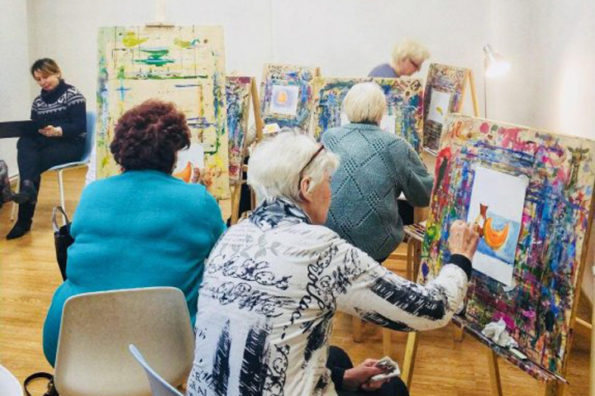 Активное долголетие, Творчество, Вязание, рисование, площадка Мосарт, для пенсионеров, в Новогиреево